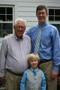 Three generations: Ed, John & Josiah