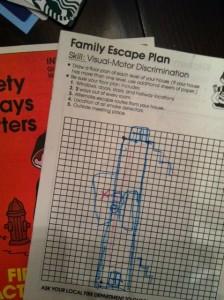 A Tiger Cub's Version of Fire Escape Plan